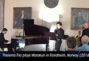 Thelema Trio plays Warakun in Trondheim, Norway (2016)